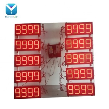LED gas price sign gas station gas price changer, led display,red led sign for gas price