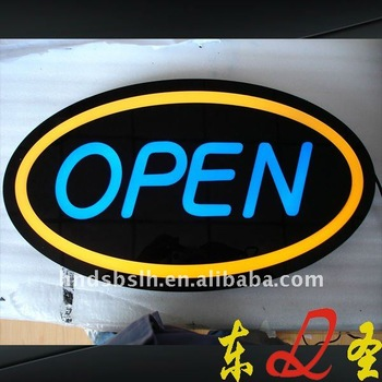 Brightness open and close led sign