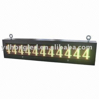 16x144 Pixels Outdoor Tricolor VMS LED Sign with Pitch 12mm