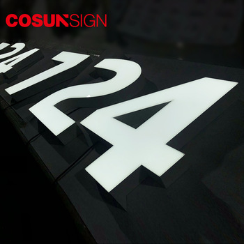 COSUN house number 8 inch 3d acrylic led sign with factory prices