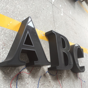 Giant advertising led signs with acrylic and stainless steel YX 3d signs outdoor