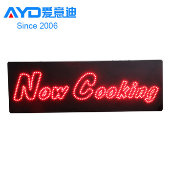 Australia Now Cooking LED Sign for Restaurant, LED Screen Display