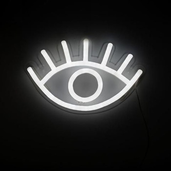 eye design neon led sign open made from channel letter making machine neon led edge lit base