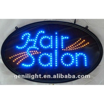 Hot Sell Oval LED Sign Hair Salon