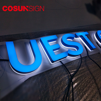 Eco-Friendly backlit led sign 3d acrylic letter back lit manufacturers
