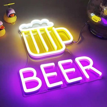 Custom LED neon sign beer neon sign bar decoration light