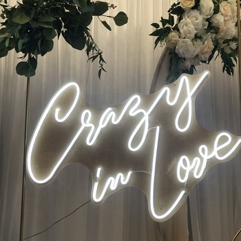 Crazy in love neon sign wedding party led neon light