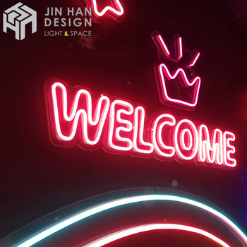 Customized glowing background LED letter neon sign acrylic flexible neon light