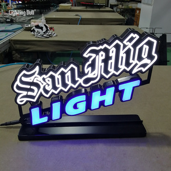Wholesale Custom Beer Brand Promotion 100% Achieve Any Fonts Custom Neon Desk Sign