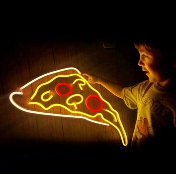 LED neon sign delicious pizza neon sign