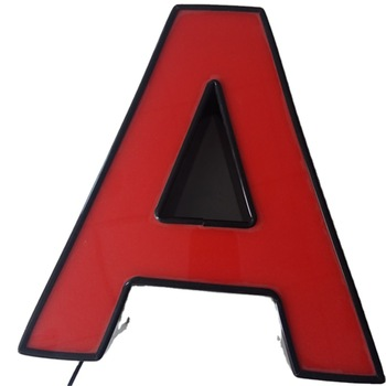 3D Advertising Outdoor Frontlit Led Letter Sign  with trimcaps