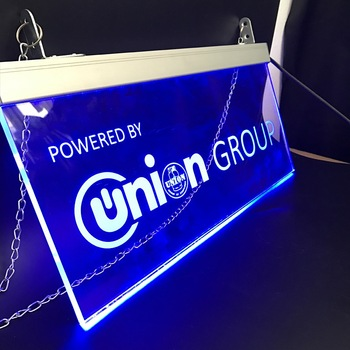 Acrylic products  Manufacturer Customized Shop Acrylic Led Edge Lit Signs Board Exit and Parking Lot Acrylic light Sign Luminous