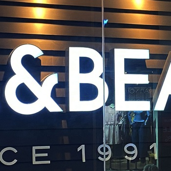 Custom shopping mall chain store front sign 3D acrylic led letter sign