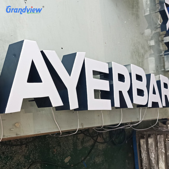 Outdoor acrylic sign letters led big letter home decoration letter sign/ 3d channel letter signs with clipper hung