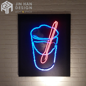 Customized store with neon light acrylic resin material LED neon indoor sign