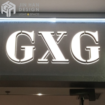 Customized exquisite and adjustable color-printed acrylic letter sign board
