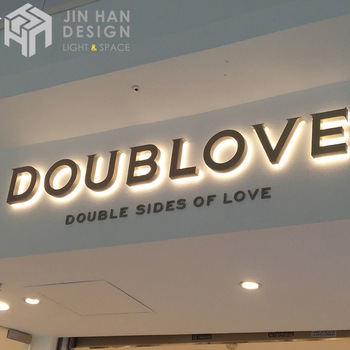 Customized store outdoor metal backlight logo sign led neon flex sign