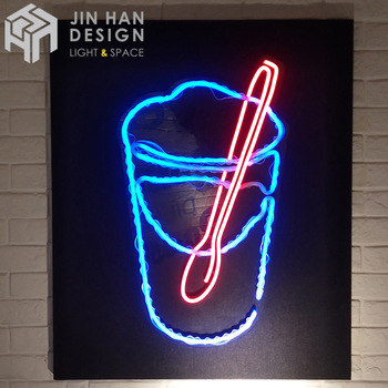 Customized commercial neon light strong acrylic material coffee neon sign