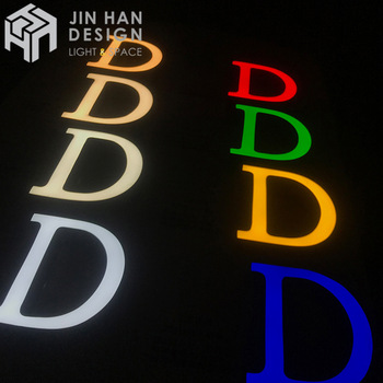 Wholesale waterproof and easy to install decoration epoxy resin led neon sign letters