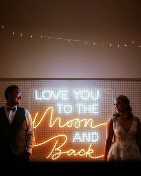 Hot Sale Crafting Wedding Birthday Party Flex Neon Sign Decor Neon Signage For Store Front Selling