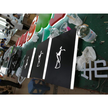 Low Maintenance Cost Stainless Steel Backlit 3D Led Signage