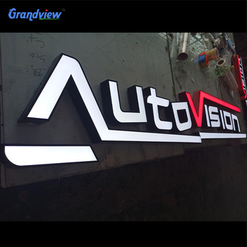 Wholesale stainless steel led channel letter signs/ store 3d brass sign led letter