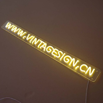 Factory direct elaborate  color acrylic led neon light sign color changing led neon sign