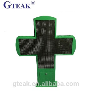 Double sided Customized outdoor led pharmacy cross sign,cross light display for the shop