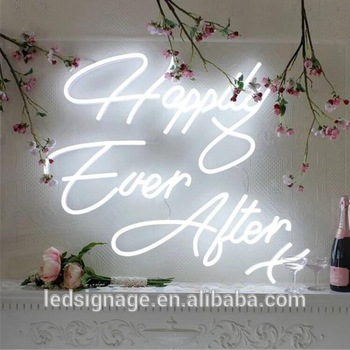 customized size Single color led flex neon sign for bar shop store
