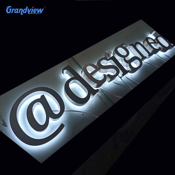 Custom metal signs welcome door sign led metal logo home sign decor