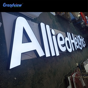 Outdoor Storefront Business Signs 3D Acrylic Company Illuminated Channel Letters Signage Front Lit Led Logo Letter Signs