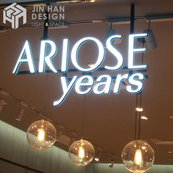 Customized and easy to install waterproof mini acrylic sign led letters