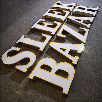 Reliable outdoor 3d stainless steel led channel letter signs
