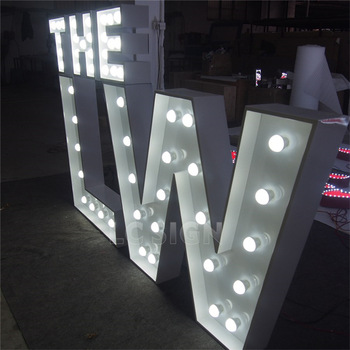 Customized large marquee led light up love letters for sale
