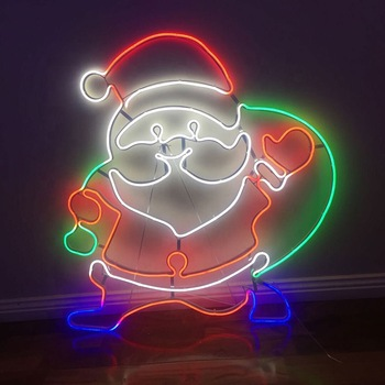 Most Popular Customized LED Advertising Acrylic Hanging Star Decorative Light Neon Sign For Christmas Decoration