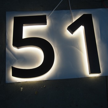 Outdoor Programmable Led Backlit House Number Signs