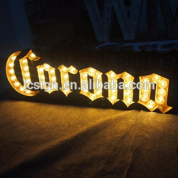 Marquee letter sign led vintage marquee light letter,waterproof beer letters led light box