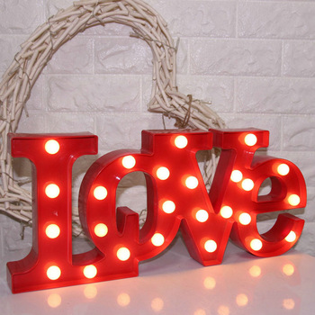 Custom LED metal marquee letters vintage light bulb letter sign love wedding letter signs for wedding decorations