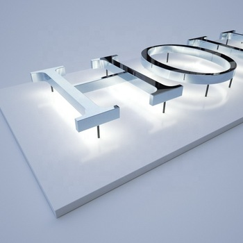 custom led light 3d channel letter sign metal store front outdoor adverting 3d led light electronic sign