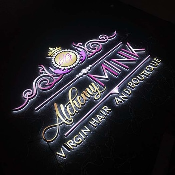 Custom led channel 3d logo used outdoor lighted signs