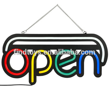 Custom LED Billboard Highlight OPEN Sign LED Neon Light Strip Flashing Shop Window Display