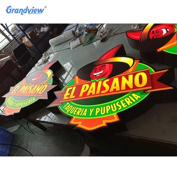 LED front lit plastic sign channel letters for outdoor signs