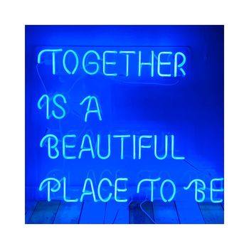 Together is a beautiful place to be vivid neon sign AL09v