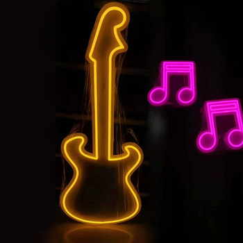 Customized Guitar Game Room Neon Sign Led Merry Christmas Neon Signs