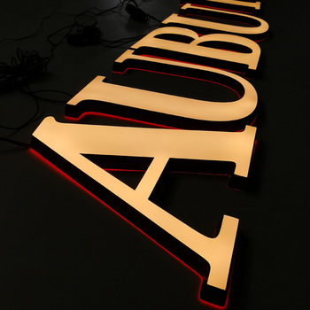 Custom Made Acrylic 3d Channel Letter Signs Indoor Signage Led Light Alphabet Sign