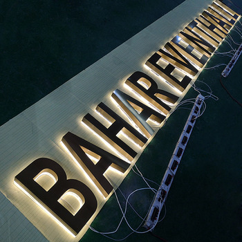 Custom Outdoor And Indoor 3D Led Acrylic Metal Back-lit Alphabet Channel Letter Sign