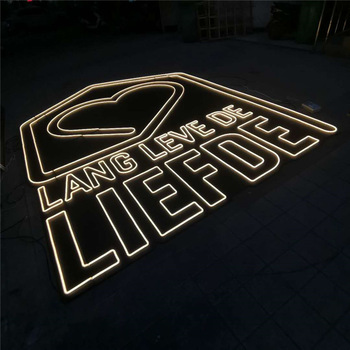 Commercial Outdoor 3m*4m Neon Light Letters Led Acrylic Custom Large Board Sign Neon Light Sign