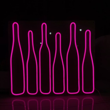 360 Multicolor Cold Red Blue Yellow Colors Acrylic Flamingo Led Flex Beer Pink Custom Neon Sign