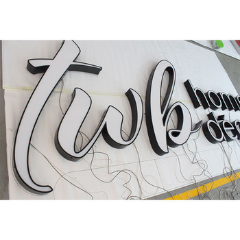 Factory specializes in customizing outdoor LED light sign board decoration trim cap groove word