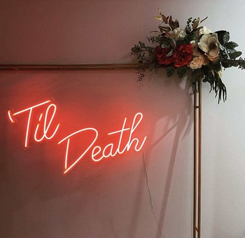 Outdoor Wedding Decorations Romantic Lights Acrylic Led Neon Sign